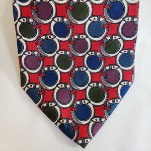🍍Vintage London Derry Belt Design Multi Color Tie